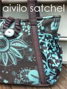 Easy pdf sewing pattern - Aivilo Original Satchel - easy to sew purse or diaper bag. $8.00, via Etsy.