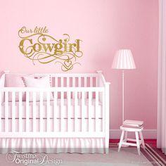 Cowgirl Wall Decal Cowgirl Decor Girls Room Vinyl by Twistmo ...