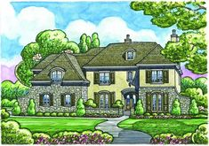 House Plan 402-01086 - French Country Plan: 7,004 Square Feet, 5 Bedrooms, 6 Bathrooms
