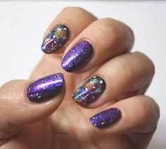 Fife Fantasi Nails : Galaxy nails with Fashion Icon from Barry M