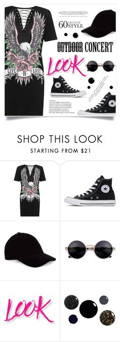 """""""60-Second Style: Outdoor Concerts"""" by jecikilicica ❤ liked on Polyvore featuring Converse, NYX, 60secondstyle and outdoorconcerts"""