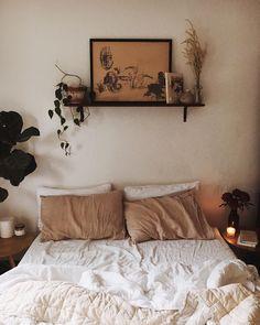 hippy / boho | bedroom | wall decor | art | plants | mornings | candles | neutral colors
