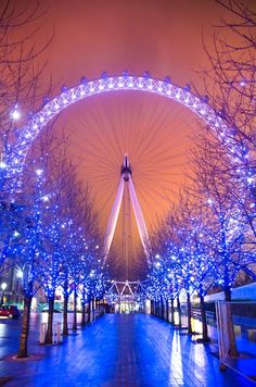 London Eye - the light it up this way during winter... It's so beautiful