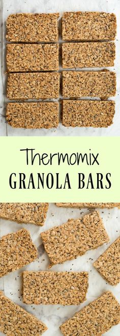An easy to make recipe for granola bars made in the Thermomix that are refined sugar free. 100 Calorie Snacks, High Protein Snacks, Protein Bars, Healthy Breakfast Recipes, Snack Recipes, Healthy Breakfasts, Thermomix Recipes Healthy, Healthy Bars, Healthy Snacks