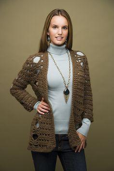 Ravelry: Crochet Cardigan #60372AD pattern by Lion Brand Yarn Up to 3 XL