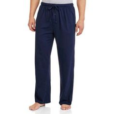 Fruit of the Loom Men's Knit Sleep Pant, Size: XL, Blue