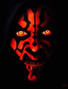 Darth Maul, Star Wars Most Awesome Star Wars villan ever! Dark Maul, Star Wars Fan Art, Star Wars Sith, Star Trek, Star Wars Tattoo, The Phantom Menace, Star Wars Wallpaper, Graphic Artwork, Love Stars