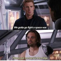 Steve and Bucky space war Avengers Memes, Marvel Memes, Marvel Dc Comics, Marvel Avengers, Avengers Quiz, Bucky And Steve, Dc Memes, Marvel Funny, Stucky