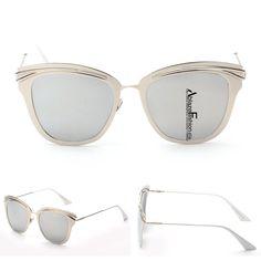 b8ad467026f Gold Retro Alloy Cat Eye Sunglasses Cat Eye Sunglasses