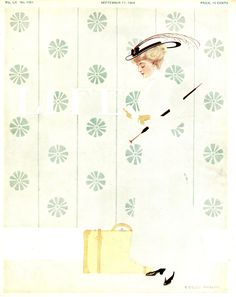 Coles Phillips - Life Magazine cover (September 17, 1908) Fadeaway girl