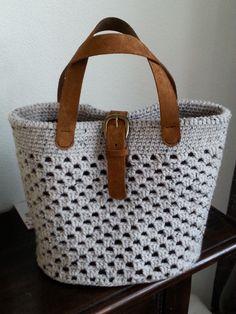 my bag Crotchet Bags, Knitted Bags, Diy バッグ, Diy Purse, Crochet Handbags, Basket Bag, Diy Canvas, Crochet Squares, Crochet Accessories
