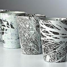 petroglyph project Treecups by Tamar de Vries Winter [copper and enamel] Ceramic Clay, Ceramic Pottery, Fusion Design, Keramik Vase, Sgraffito, Contemporary Ceramics, Ceramic Design, Tea Bowls, Clay Art