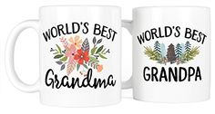 Most Toasty Worlds Best Grandma and Grandpa Ceramic Coffee Mug Gift Set 15 Ounce White * Visit the image link more details. (This is an affiliate link) Coffee Mug Sets, Mugs Set, Coffee Drinks, New Grandparents, Grandma And Grandpa, Ceramic Mugs, Order Prints, White Ceramics, Are You Happy