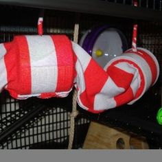 Pet rat tunnel and hammock toy