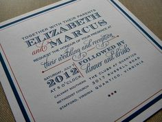 great wedding invitation.