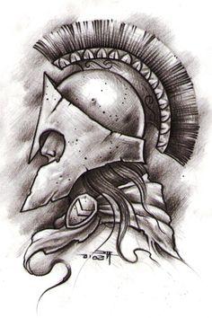 Ideas For House Sketch Tattoo Sketch Tattoo Design, Tattoo Sketches, Tattoo Drawings, Tattoo Designs, Warrior Tattoos, Badass Tattoos, Viking Tattoos, Tattoo Outline, Tatoo Art