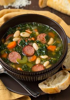 Kale White Bean and Sausage Soup  Healthful Aspects -Beans and legumes are a great source of essential nutrients such as proteins, fibers, vitamins and minerals and antioxidants. The antioxidants found white beans have cancer-fighting properties that neutralize the cell damage caused by free radicals.