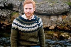 Brimir Icelandic Sweater Handmade with by IcelandicKnitsbyAnna Nordic Pullover, Nordic Sweater, Men Sweater, Wooly Jumper, Wool Sweaters, Textile World, Boy Fashion, Mens Fashion, Icelandic Sweaters