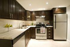 Countertops Formica® Travertine Silver on HGTV's Income Property Kitchen Remodel Small, Kitchen Design, Kitchen Decor, Small Kitchen, Kitchen Countertops, New Kitchen, Laminate Countertops White Cabinets, Kitchen, Diy Kitchen