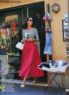 US Vogue December 1993 Christy Turlington by Arthur Elgort and Carlyne Cerf de Dudzeele