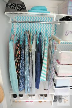 teen closet organizationturquoise girls teen tween closet organized organizingmadefun com teen closet organization, teen
