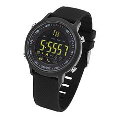 TKSTAR IP67 Waterproof Watches for Men/Kids/Women,Bluetooth 4.0 Sports Smartwatch Steps Counting, Calory, Distance, Altitude, Alarm Luminous Dial Watch for Android IOS (Black) 52.99  #★AlwaysondisplaywithHighcoldLuminousmode,Ontimeanywhereandanytime #★IP-67/5ATMProfessionalWaterproofLevel,MakeyouwayEasyandsafe...