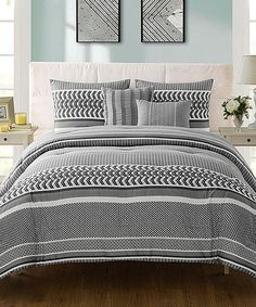 Take a look at this Gray Marcus Five-Piece Comforter Set today!