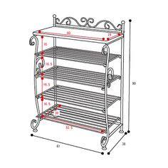wrought iron shoe rack - Google Search