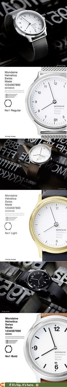 I'm in love with these New Helvetica Watches by Mondaine | http://www.ifitshipitshere.com/helvetica-watches-mondaine/