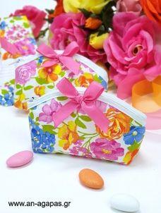 Μπομπονιέρα Βάπτισης Οβάλ Πορτοφολάκι Bright Flower Bright Flowers, Gift Wrapping, Diy, Gifts, Glitter Flowers, Gift Wrapping Paper, Presents, Bricolage, Wrapping Gifts