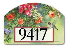 """Flavors of Summer Address Sign by MagnetWorks. $15.95. Or display as hanging address sign using our Ornamental Address Post.. Address plaques snap into place onto our Yard Stake.. Magnetic address sign measures 14"""" x 10"""".. Includes 2 sets of easy-to-apply self-adhesive address numbers.. Yard Designs are vinyl coated for long lasting beauty.. Flavors of Summer magnetic address sign by Yard DeSigns is screen-printed and vinyl coated for vivid long-lasting color. Our outdoor..."""