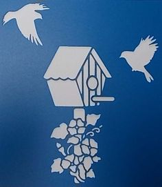 Birdhouse Stencil by kraftkutz on Etsy