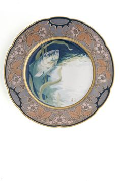Plate, 1903, Imperial and Royal Manufactory Pirkenhamer  , manufacturing, Jean-François Augustin Carrier , author of the model, Pirkenhammer
