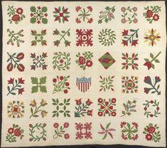 Bedcover (The Circuit Rider's Quilt), c. 1862. Miami, Ohio. The Art Institute of Chicago, gift of Emma B. Hodge, 1919.535.