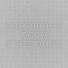 Pharmacy tech certification test. Practice for PTCB and