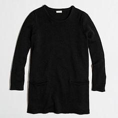 Factory pocket tunic sweater