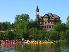 The annual Dragon Boat Festival goes on in late August in nearby Superior, WI. Some of our staff participated last year and had a blast! You really have to see it to believe it!