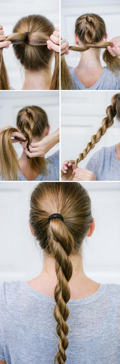 #SimpleElegantHairstyles Emo Hairstyles For Guys, Athletic Hairstyles, Toddler Braided Hairstyles, Volleyball Hairstyles, Toddler Braids, Haircuts For Fine Hair, Easy Hairstyles For Long Hair, Summer Hairstyles, Brown Hair Elastics