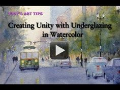 Watercolor painting how-to, Creating Unity with Underglazing by Judy Mudd Watercolor Video, Watercolour Tutorials, Watercolor Techniques, Art Techniques, Watercolor Paintings, Painting Tutorials, Art Tutorials, Watercolor Classes, Abstract Paintings