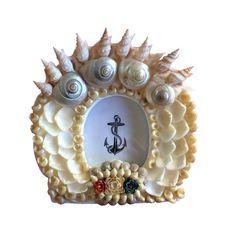 White Seashell Frame Sailor's Valentine Style by TheMermaidsBox