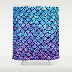 Buy Purples & Blues Mermaid scales Shower Curtain by maryedenoa. Worldwide shipping available at Society6.com. Just one of millions of high quality products available.
