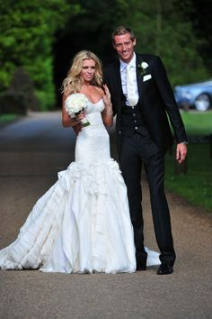 English footballer Peter Crouch married longtime girlfriend Abby Clancey June 30, 2011.