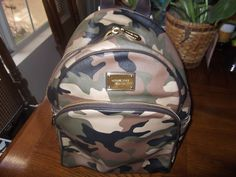 Michael Kors Jet Set Large Camo Saffiano Backpack #MichaelKors #BackpackStyle
