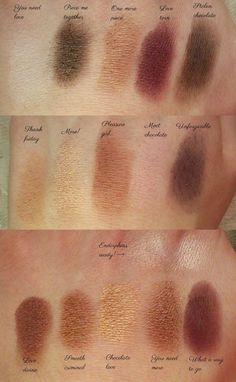 I Heart Chocolate, Makeup Revolution, Swatches