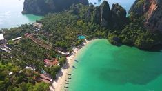 Railay Beach, Thailand.  Imagine, this is my home in February. No cars needed, it's big enough to walk across. Tranquil waters and teeming life. The beauty of nature in climber's paradise. Dances In Air will take two groups of people in retreats this winter to this awesome location for kickass aerial classes and climbing.  Wanna get in? Check us out at www.dancesinair.com Link in bio! Aerial Classes, Railay Beach, Best Location, Climbers, Natural Beauty, Thailand, February, Paradise, River