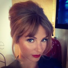 Millie Mackintosh styles her fringe for a sixties inspired look - Beauty & Hair News - handbag.com