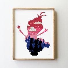 counted cross stitch how to Cute Cross Stitch, Beaded Cross Stitch, Cross Stitch Samplers, Cross Stitch Kits, Cross Stitch Charts, Cross Stitching, Cross Stitch Embroidery, Embroidery Patterns, Disney Cross Stitch Patterns