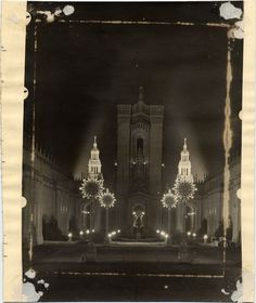 Historypin | Mapping San Francisco's 1915 World's Fair | Night Illumination of PPIE, 1915.