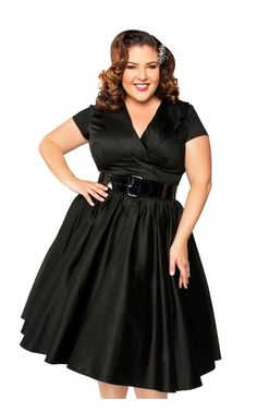 Birdie Party Dress in Black - Plus Size. SUCH BEAUTY, AND THE DRESS IS NICE TOO.