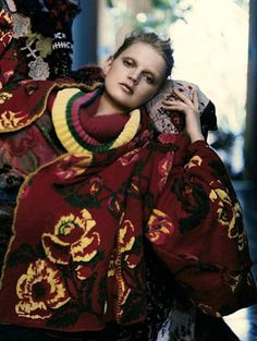 Guinevere Van Seenus by Paolo Roversi for Kenzo, fall/winter 2005/06